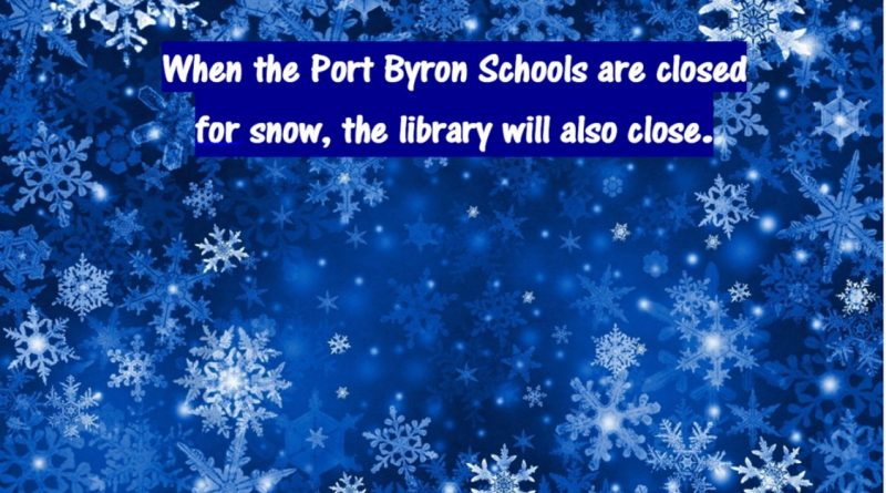 Check for school and library closings