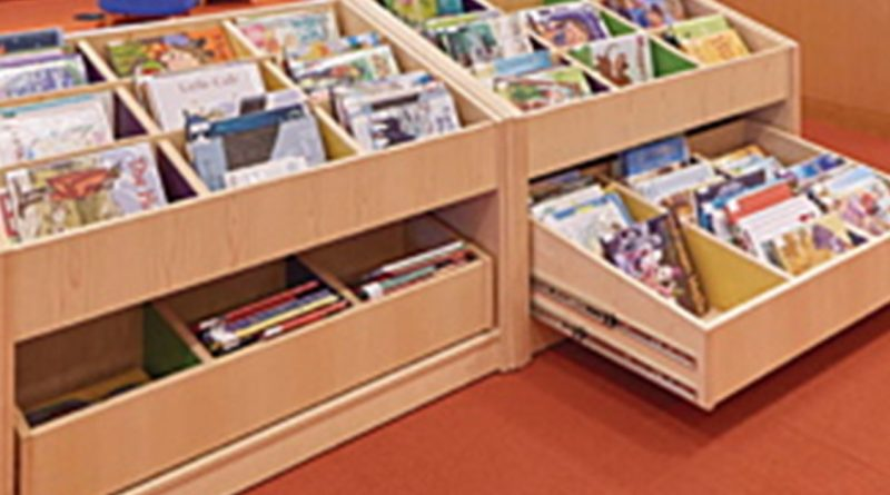 childrens book bins