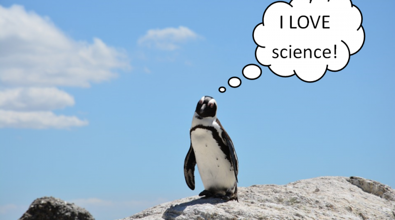 i love science penguin