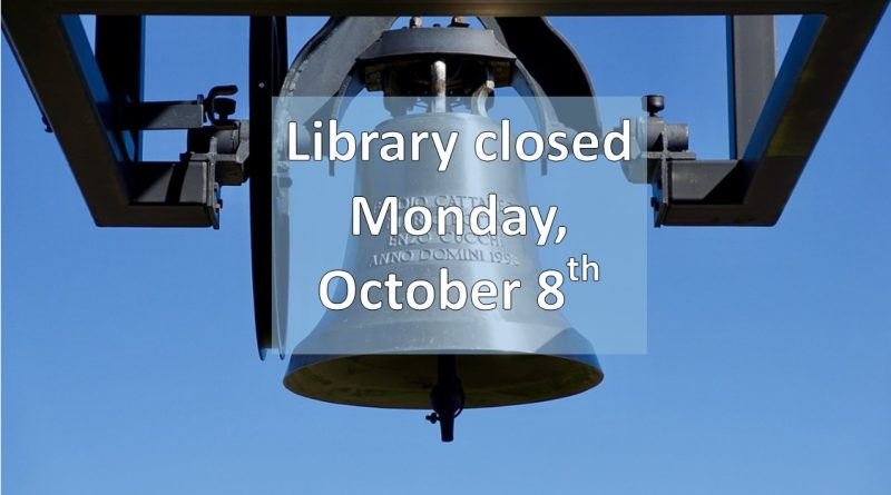 Library Closed for Columbus Day