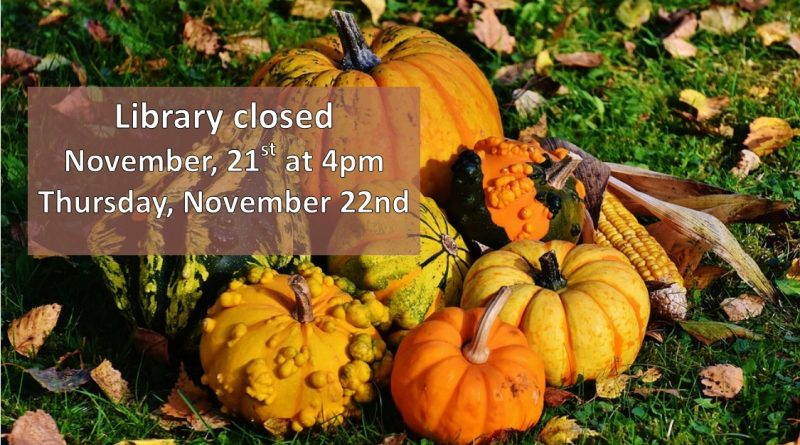 Library Closed for Thanksgiving Day