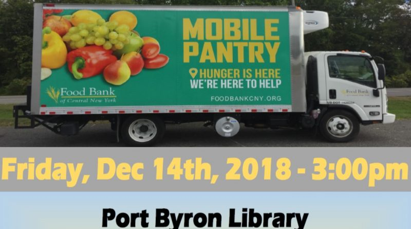 Mobile Food Pantry, December 14th 3 PM