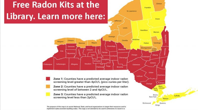 Free Radon Test Kits Available at the Library