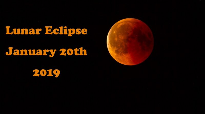 Learn about the Lunar Eclipse – January 20, 2019