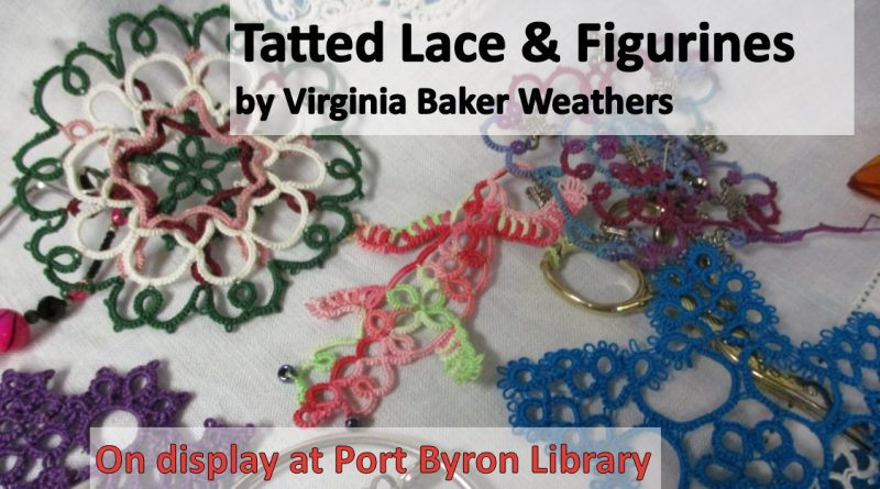 Tatted Lace and Figurines by Virginia Baker Weathers