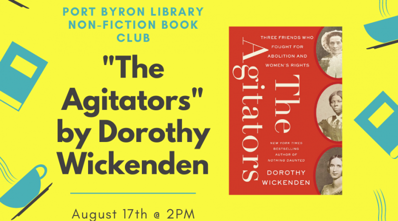 Non-Fiction Book Club Selection for August 17th @ 2PM: The Agitators