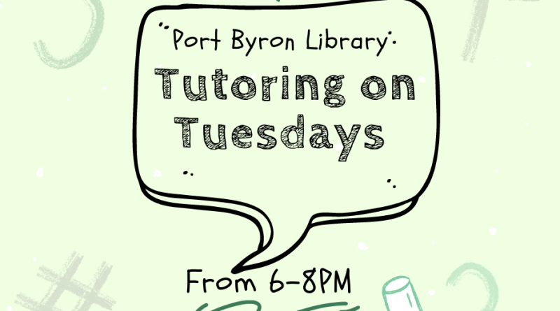 Tutoring on Tuesdays from 6-8PM @ Port Byron Library