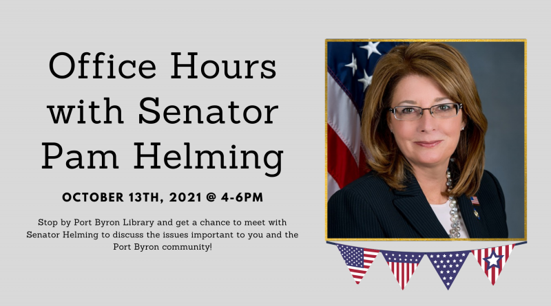 Senator Pam Helming Visit 10/13 @ 4PM